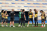 Getafe's coach Jose Bordalas with Marc Cucurella, Francisco Portillo, Leandro Chichizola, Xavier Etxeita, Allan Nyom, Deyverson Da Silva and Angel Rodriguez during training session. May 25,2020.(ALTERPHOTOS/Acero)