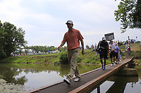 George MCNEILL (USA) crosses the footbridge to the 2nd tee during Thursday's Round 1 of the 2014 PGA Championship held at the Valhalla Club, Louisville, Kentucky.: Picture Eoin Clarke, www.golffile.ie: 7th August 2014