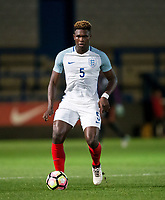 Darnell Johnson (Leicester City) of England U20 during the International friendly match between England U20 and Netherlands U20 at New Bucks Head, Telford, England on 31 August 2017. Photo by Andy Rowland.