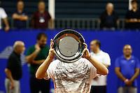 SAO PAULO, SP, 23.11.2014  TORNEIO ATP CHALLENGER TOUR FINALS.   O tenista argentino Diego Schwartzmann posa para fotos com o troféu  de campeão do torneio de tênis ATP Challenger Tour Finals que acontece na tarde de domingo (23) no Esporte Clube Pinheiros. (Foto: Adriana Spaca / Brazil Photo Press)