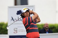 Gavin Green (MAS) tees off the 1st tee during Saturday's rain delayed Round 2 of the Andalucia Valderrama Masters 2018 hosted by the Sergio Foundation, held at Real Golf de Valderrama, Sotogrande, San Roque, Spain. 20th October 2018.<br /> Picture: Eoin Clarke | Golffile<br /> <br /> <br /> All photos usage must carry mandatory copyright credit (&copy; Golffile | Eoin Clarke)