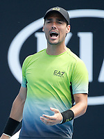15th January 2019, Melbourne Park, Melbourne, Australia; Australian Open Tennis, day 2; Fabio Fognini of Italy rreacts during a match against Jaume Munar of Spain
