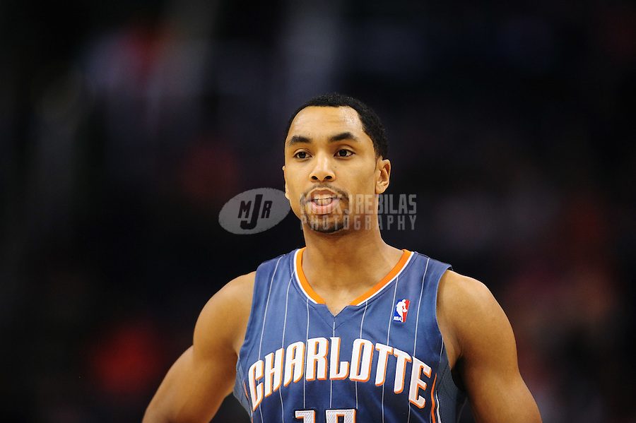 Jan. 26, 2011; Phoenix, AZ, USA; Charlotte Bobcats guard (15) Gerald Henderson against the Phoenix Suns at the US Airways Center. The Bobcats defeated the Suns 114-107. Mandatory Credit: Mark J. Rebilas-