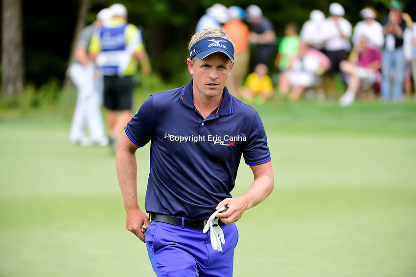 Saturday, September 3, 2016:  Luke Donald of England leaves the on the fifth green during the second round of the Deutsche Bank Championship tournament held at the Tournament Players Club, in Norton, Massachusetts.  Eric Canha/Cal Sport Media
