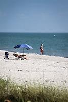 Beach near historic Naples Fishing Pier, Naples, Florida, USA. Photo by Debi Pittman Wilkey