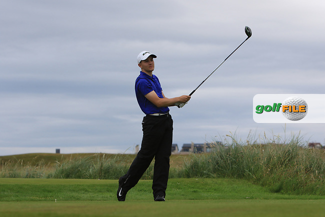Joshua Robinson (Lisburn) during Round 2 of the North of Ireland Amateur Open Championship 2019 at Portstewart Golf Club, Portstewart, Co. Antrim on Tuesday 9th July 2019.<br /> Picture:  Thos Caffrey / Golffile<br /> <br /> All photos usage must carry mandatory copyright credit (© Golffile   Thos Caffrey)