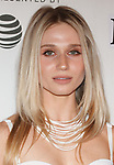 Actress Rita Volk arrives at the Tribeca Talks: Storytellers with Ed Burns & world premiere of Summertime at BMCC Tribeca PAC, on April 27, 2018, during the 2018 Tribeca Film Festival.
