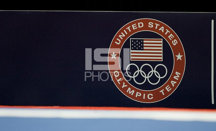 USOT logo is pictured on the wall during the 2012 US Olympic Trials competition at HP Pavilion in San Jose, California on June 28th, 2012.
