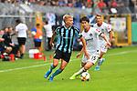 11.08.2019, Carl-Benz-Stadion, Mannheim, GER, DFB Pokal, 1. Runde, SV Waldhof Mannheim vs. Eintracht Frankfurt, <br /> <br /> DFL REGULATIONS PROHIBIT ANY USE OF PHOTOGRAPHS AS IMAGE SEQUENCES AND/OR QUASI-VIDEO.<br /> <br /> im Bild: Dorian Diring (SV Waldhof Mannheim #8), Daichi Kamada (Eintracht Frankfurt #15)<br /> <br /> Foto © nordphoto / Fabisch