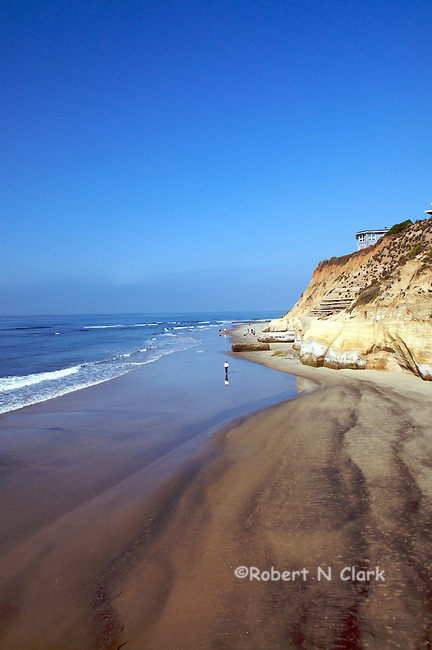 Secluded beach, Solana Beach