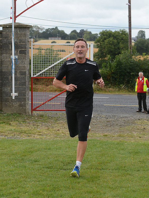 Former Louth manager Peter Fitzpatrick running in Tiaran's 5K run at Hunterstown. Photo:Colin Bell/pressphotos.ie