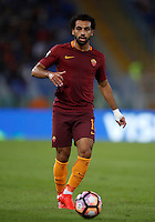 Calcio, Serie A: Roma, stadio Olimpico, 21 settembre 2016.<br /> Roma&rsquo;s Mohamed Salah in action during the Serie A soccer match between Roma and Crotone at Rome's Olympic stadium, 21 September 2016. Roma won 4-0.<br /> UPDATE IMAGES PRESS/Isabella Bonotto