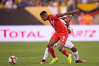 Action photo during the match Peru vs Colombia, Corresponding to the quarterfinals of the America Cup 2016 Centenary at Metlife Stadium.<br /> <br /> Foto de accion durante el partido Peru vs Colombia, Correspondiente a los Cuartos de Final de la Copa America Centenario 2016 en el Estadio Metlife, en la foto: Andy Polo<br /> <br /> <br /> 17/06/2016/MEXSPORT/Osvaldo Aguilar.