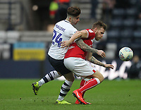 Preston North End's Sean Maguire in action with Bristol City's Tomas Kalas<br /> <br /> Photographer Mick Walker/CameraSport<br /> <br /> The EFL Sky Bet Championship - Preston North End v Bristol City - Saturday 2nd March 2019 - Deepdale Stadium - Preston<br /> <br /> World Copyright © 2019 CameraSport. All rights reserved. 43 Linden Ave. Countesthorpe. Leicester. England. LE8 5PG - Tel: +44 (0) 116 277 4147 - admin@camerasport.com - www.camerasport.com