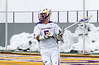 University at Albany Men's Lacrosse defeats Cornell 11-9 on Mar 4 at Casey Stadium.  Connor Fields (#5).