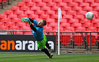 Jay Lynch  of AFC Flyde warming up during AFC Fylde vs Salford City, Vanarama National League Play-Off Final Football at Wembley Stadium on 11th May 2019