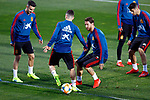 Spanish Sergio Ramos and Gaya during the training of the spanish national football team in the city of football of Las Rozas in Madrid, Spain. March 18, 2019. (ALTERPHOTOS/Manu R.B.)