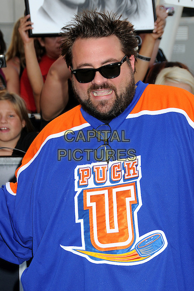 "KEVIN SMITH .""The Twilight Saga: Eclipse"" Los Angeles Premiere at the 2010 Los Angeles Film Festival held at Nokia Theatre LA Live, Los Angeles, California, USA, 24th June 2010..half length blue orange top beard facial hair sunglasses .CAP/ADM/BP.©Byron Purvis/AdMedia/Capital Pictures."