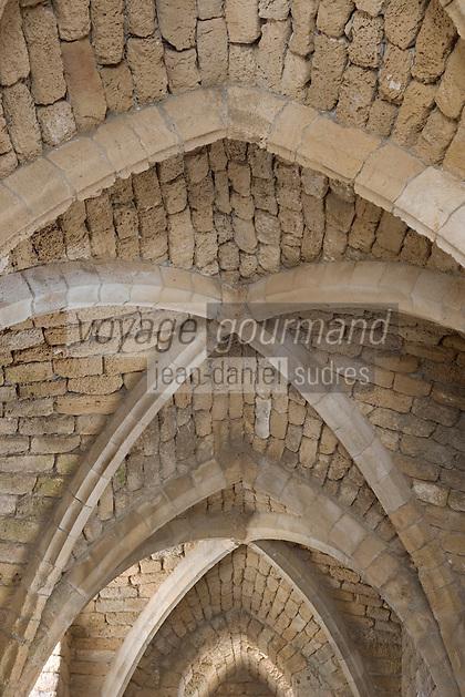 Asie/Israël/Galilée/Césarée: Ruines de Césarée détail voutes d'une porte fortifiée //  Asia, Israel, Galilee, Caesarea Maritima: The ruins of Caesarea Maritima
