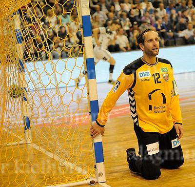 October 05-16,Max-Schmeling-Halle , Berlin,Germany<br /> Handball,F&uuml;chse Berlin vs THW Kiel<br /> Goalie Silvio Heidevetter <br /> Kiel wins 26:18