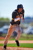 Iowa Hawkeyes center fielder Joel Booker (23) running the bases during a game against the Dartmouth Big Green on February 27, 2016 at South Charlotte Regional Park in Punta Gorda, Florida.  Iowa defeated Dartmouth 4-1.  (Mike Janes/Four Seam Images)