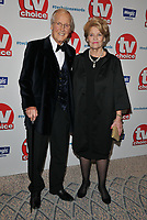 Nicholas Parsons and Ann Reynolds at the TV Choice Awards 2018, The Dorchester Hotel, Park Lane, London, England, UK, on Monday 10 September 2018.<br /> CAP/CAN<br /> &copy;CAN/Capital Pictures