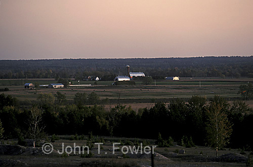 Rural landscape, Ontario, afterglow, sunset
