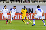 Awer Mabil of Australia  (C) in action during the AFC Asian Cup UAE 2019 Round of 16 match between Australia (AUS) and Uzbekistan (UZB) at Khalifa Bin Zayed Stadium on 21 January 2019 in Al Ain, United Arab Emirates. Photo by Marcio Rodrigo Machado / Power Sport Images