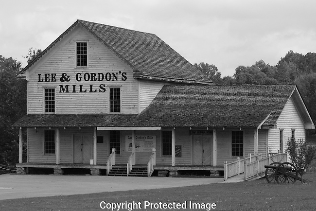 Old civil war corn mill and merchant store, Lee & Gordon Grist Mill Chickamauga Georgia