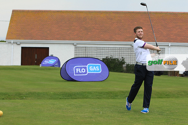 playing with Jonathan Yates (Naas) on the 1st tee during the Flogas Irish Amateur Open Championship Am-Am at Royal Dublin on Monday 9th May 2016.<br /> Picture:  Thos Caffrey / www.golffile.ie