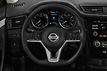 Car pictures of steering wheel view of a 2017 Nissan Rogue Sport S 5 Door SUV