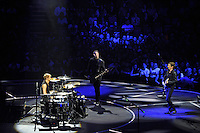 LONDON, ENGLAND - APRIL 3: Dominic Howard, Chris Wolstenholme and Matt Bellamy of 'Muse' performing at the O2 Arena on April 3, 2016 in London, England.<br /> * Press use only. No merchandising *<br /> CAP/MAR<br /> &copy;MAR/Capital Pictures /MediaPunch ***NORTH AND SOUTH AMERICAS ONLY***