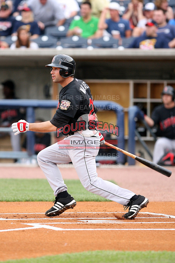 June 12th 2008:  Third baseman Neil Walker of the Indianapolis Indians, Class-AAA affiliate of the Pittsburgh Pirates, during a game at Fifth Third Field in Toledo, OH.  Photo by:  Mike Janes/Four Seam Images