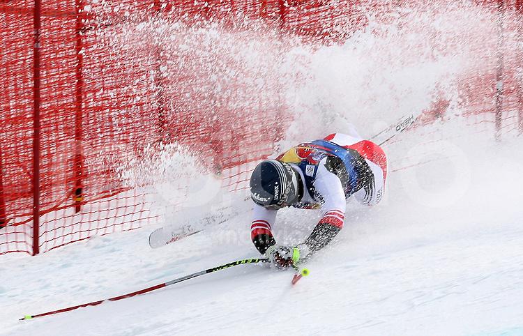 Ski Alpin;  Saison 2007/2008  15.01.2008 68. Hahnenkamm Rennen Abfahrt Andreas Buder (AUT) stuertzt