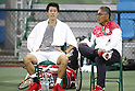 (L-R) Kei Nishikori,  Minoru Ueda (JPN), <br /> AUGUST 3, 2016 - Tennis : <br /> Men's Singles Training session <br /> at Olympic Tennis Centre <br /> during the Rio 2016 Olympic Games in Rio de Janeiro, Brazil. <br /> (Photo by Yusuke Nakanishi/AFLO SPORT)