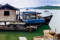 Riau Islands, Bintan. Boat at Kijang, south Bintan.