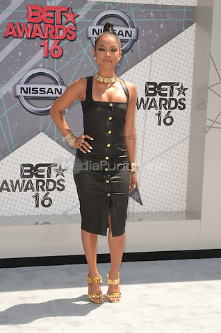 LOS ANGELES, CA - JUNE 26: Karrueche Tran at the 2016 BET Awards at the Microsoft Theater on June 26, 2016 in Los Angeles, California. Credit: David Edwards/MediaPunch
