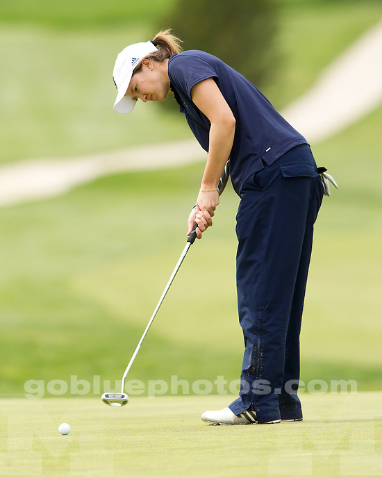 The University of Michigan women's golf team finished day one in seventh place at the Big Ten Championship at the Donald Ross Course (French Lick Resort) in French Lick, Ind., on April 26, 2013.
