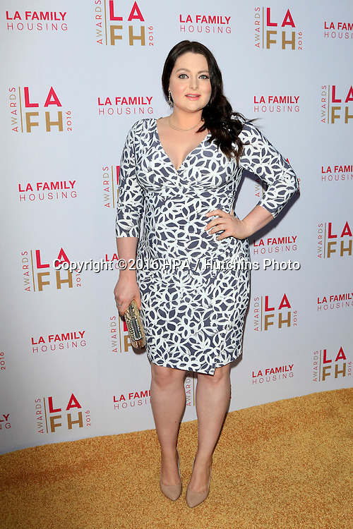 LOS ANGELES - APR 21:  Lauren Ash at the LA Family Housing Awards at the The Lot on April 21, 2016 in Los Angeles, CA