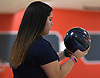 Amanda Petrillo of MacArthur gets ready to roll during the Nassau County varsity girls bowling individual championship and state qualifier at AMF Garden City Lanes on Saturday, Feb. 10, 2018.