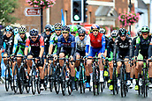 8th September 2017, Newmarket, England; OVO Energy Tour of Britain Cycling; Stage 6, Newmarket to Aldeburgh; The riders reach the first bench at Newmarket