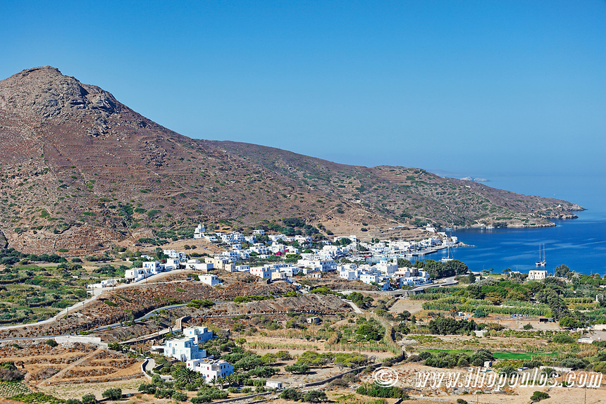 Katapola port of Amorgos island in Cyclades, Greece