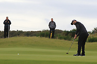 Jon Rahm (ESP) on the 4th green during Round 2 of the Alfred Dunhill Links Championship 2019 at Kingbarns Golf CLub, Fife, Scotland. 27/09/2019.<br /> Picture Thos Caffrey / Golffile.ie<br /> <br /> All photo usage must carry mandatory copyright credit (© Golffile | Thos Caffrey)