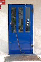 Blue door. Rawa Mazowiecka Central Poland