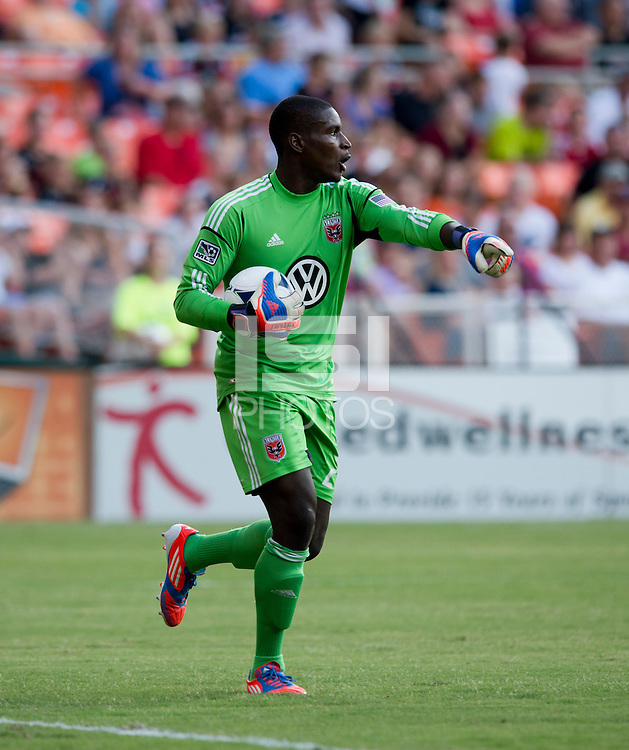 Bill Hamid.   D.C. United defeated the Columbus Crew, 1-0, during the game at RFK Stadium in Washington, DC.