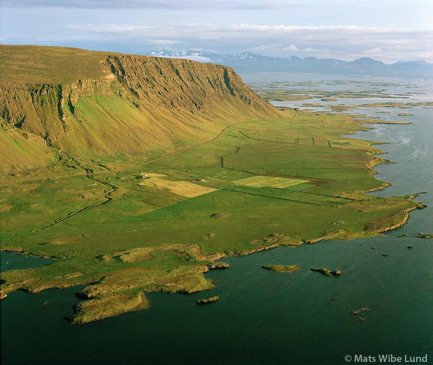 Ballará séð til suðvesturs, Klofningur, Dalabyggð áður Skarðshreppur / Ballara, viewing southwest, Klofningur,  Dalabyggd former Skardshreppur.