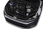 Car stock 2017 Volkswagen Golf Trendline 3 Door Hatchback engine high angle detail view