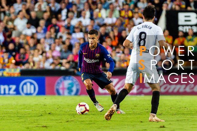 Philippe Coutinho of FC Barcelona in action during their La Liga 2018-19 match between Valencia CF and FC Barcelona at Estadio de Mestalla on October 07 2018 in Valencia, Spain. Photo by Maria Jose Segovia Carmona / Power Sport Images