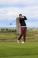 Steffan O'Hara (Co. Sligo) on the 13th tee during Round 2 of The South of Ireland in Lahinch Golf Club on Sunday 27th July 2014.<br /> Picture:  Thos Caffrey / www.golffile.ie