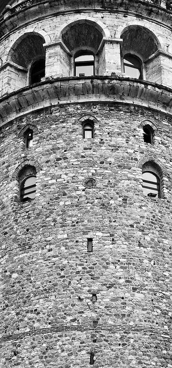 Galata Tower Arches - Galata Tower, Beyoglu, Istanbul, Turkey.